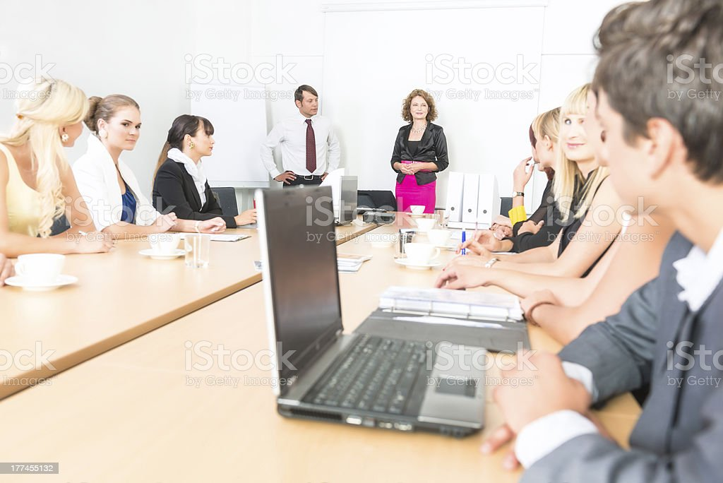 Woman manager royalty-free stock photo