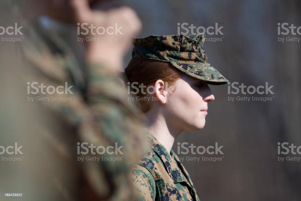 Woman Marine stock photo
