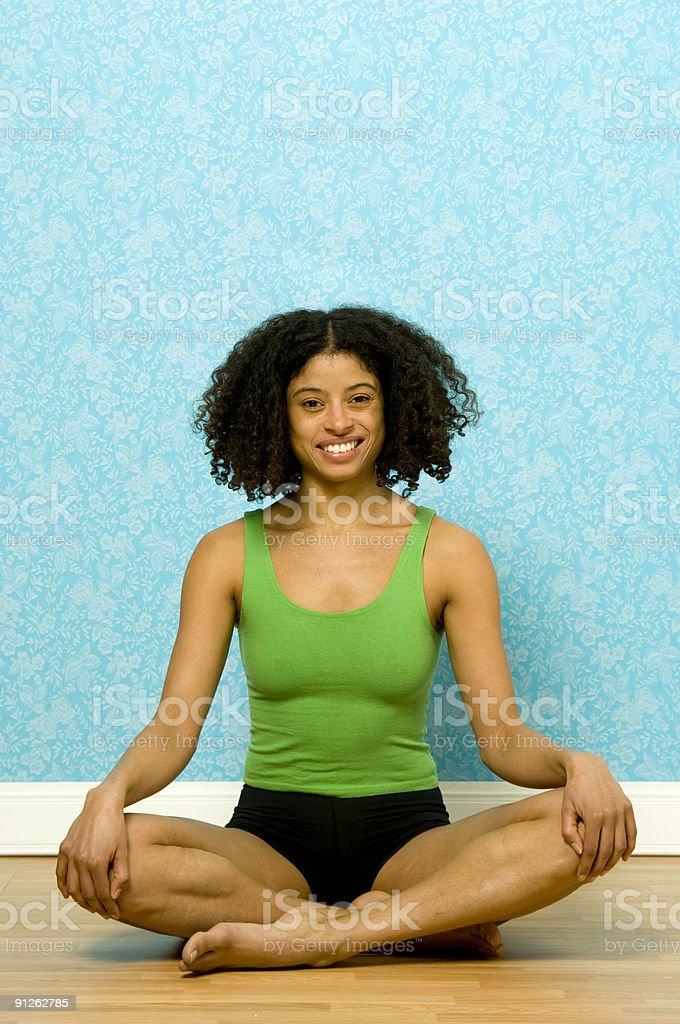 woman meditating royalty-free stock photo