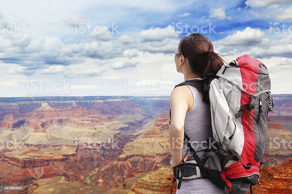 Woman mountain Hiker royalty-free stock photo
