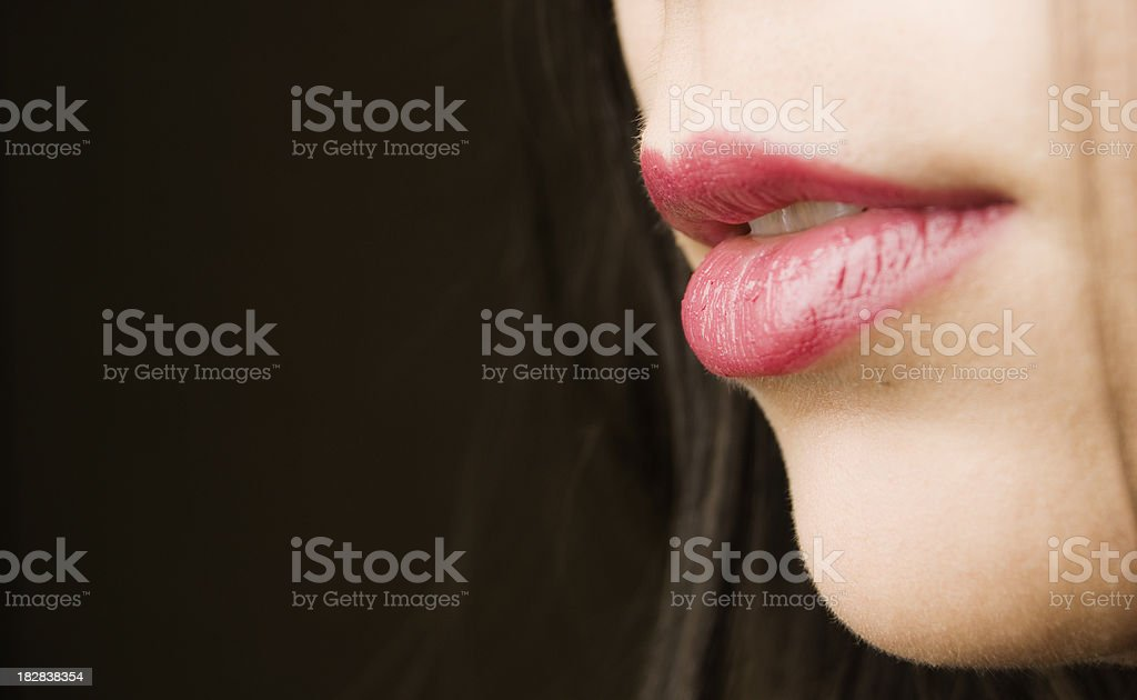 Woman mouth close-up royalty-free stock photo