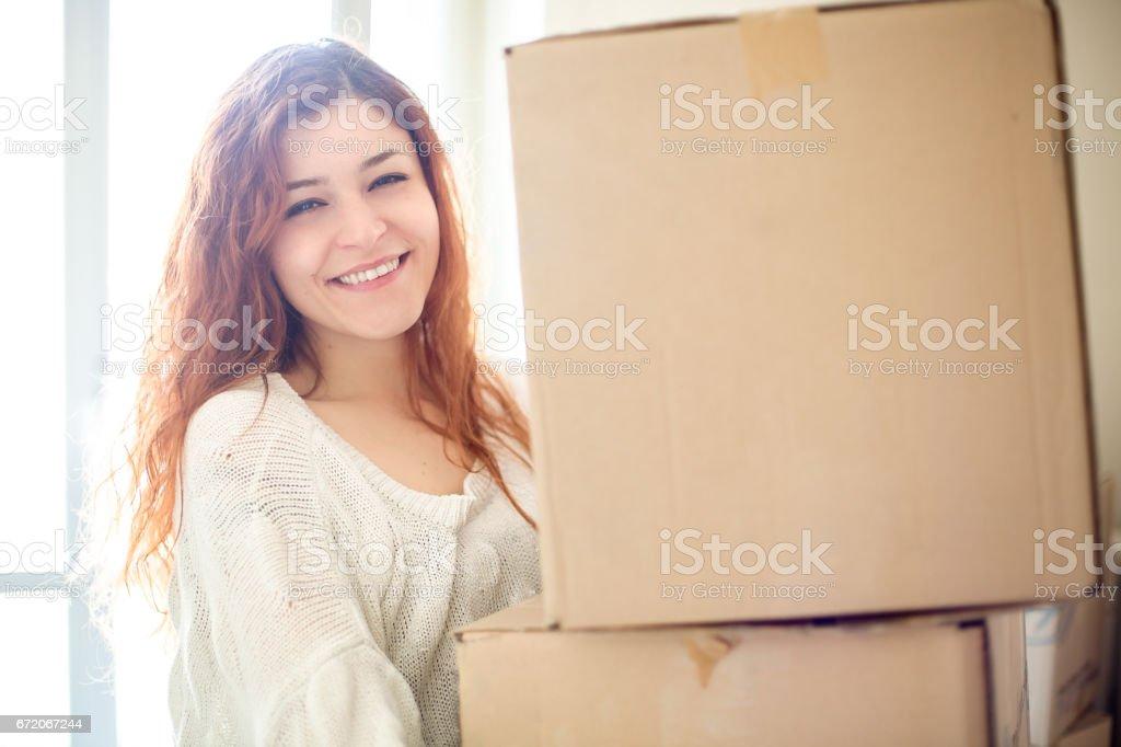 Woman Moving stock photo