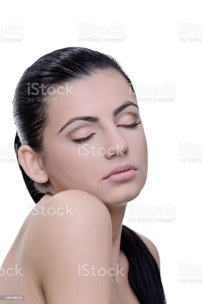 Femme beauté naturelle photo libre de droits
