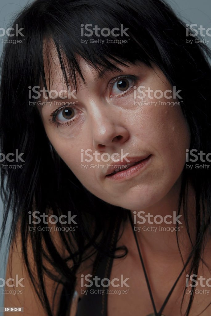 Woman, natural, candid royalty-free stock photo