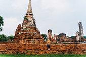 Woman near Buddhist Stupa