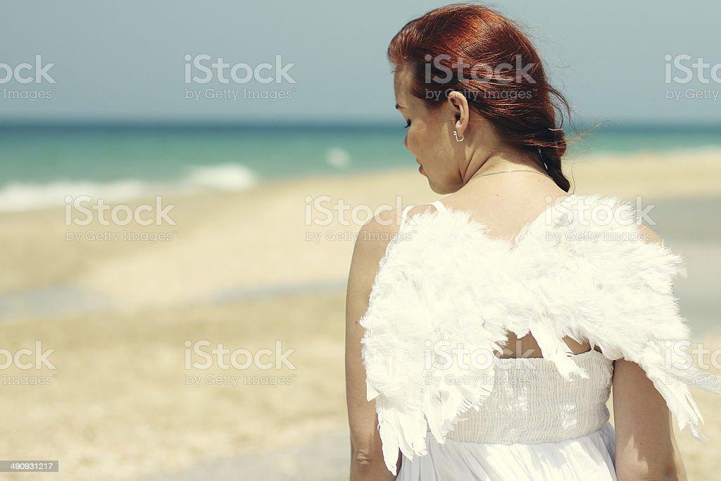 woman near the sea royalty-free stock photo