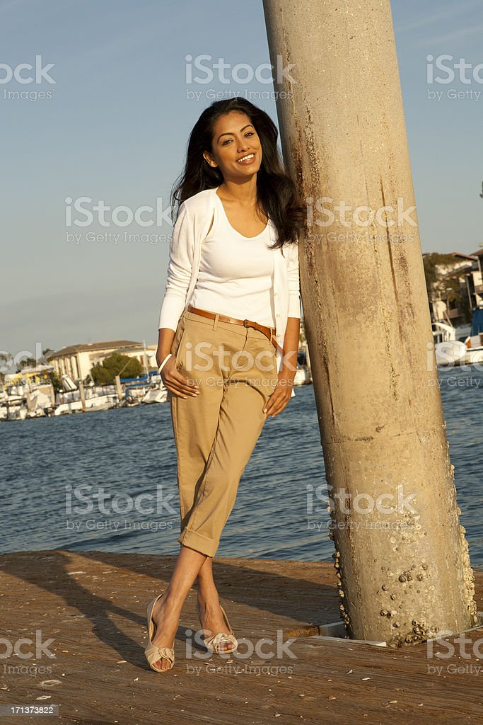 Woman near the Shore stock photo