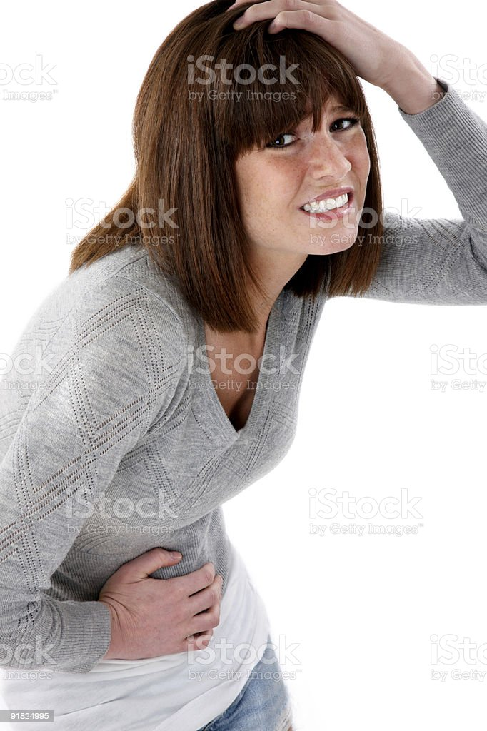 Woman not feeling well stock photo