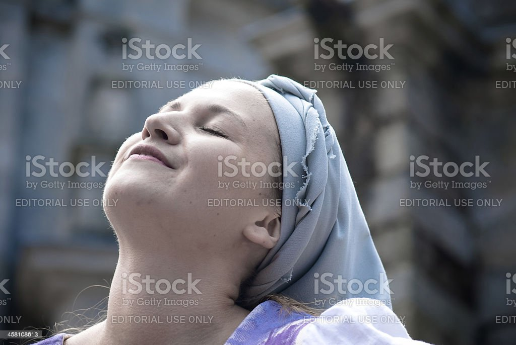 Woman of Galicia stock photo