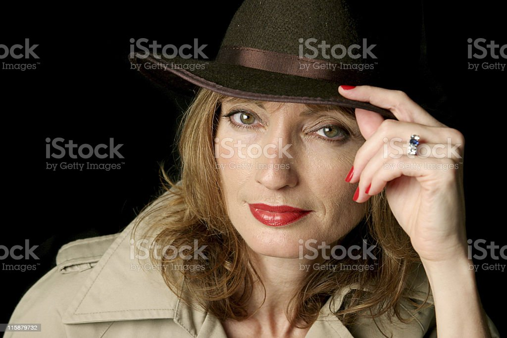 Woman of Mystery stock photo