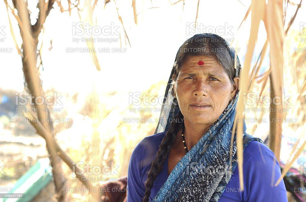 Woman of rural Maharashtra. royalty-free stock photo