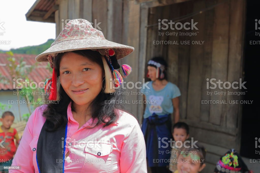 Woman of the Akha Ya-Er hill tribe. BanHouayPhod-Phongsali province-Laos. 3719 stock photo