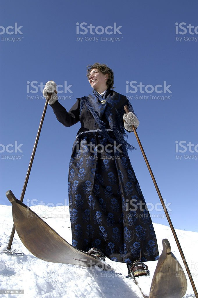Woman Old Style royalty-free stock photo