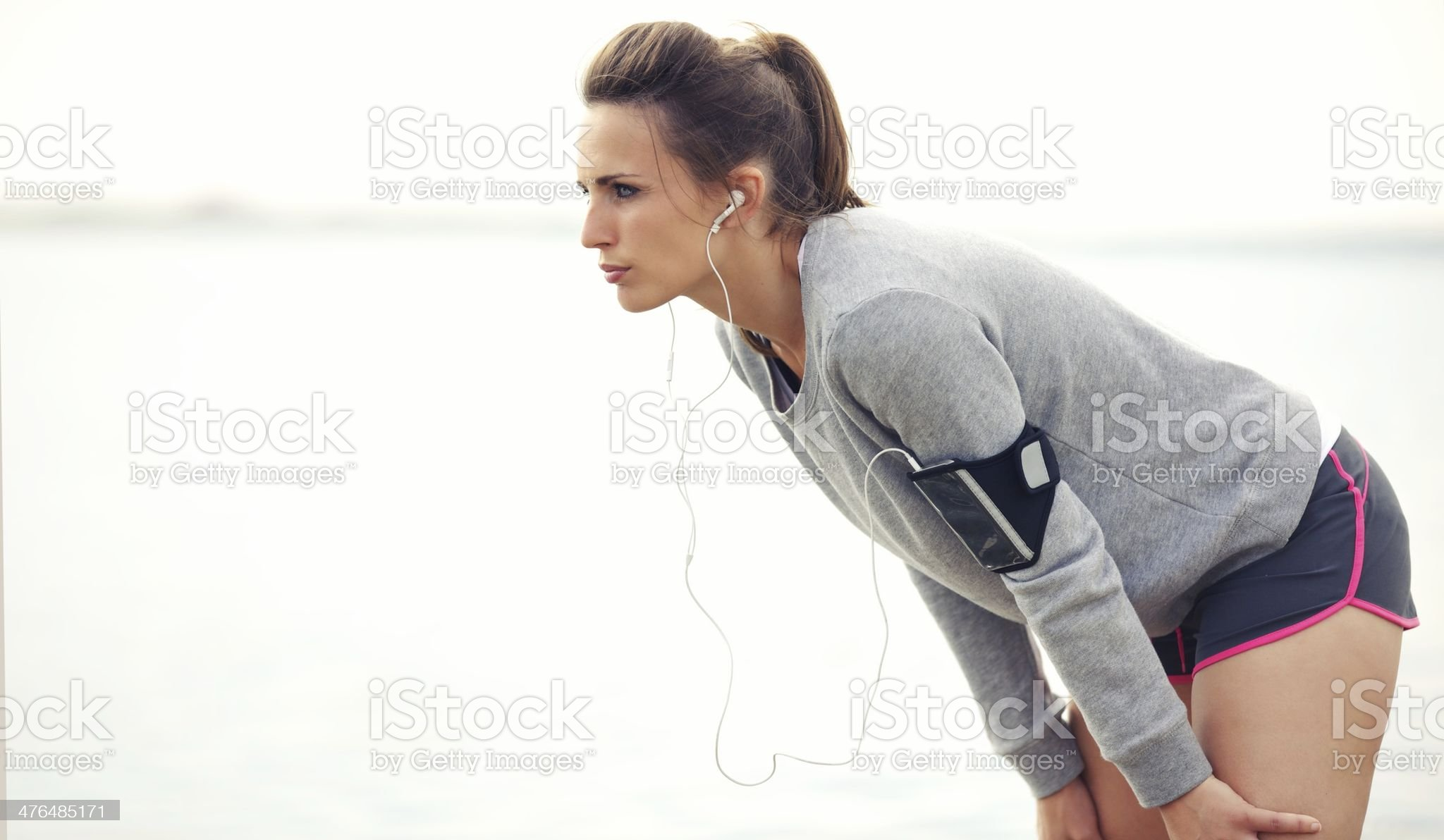 Woman On A Break After Jogging royalty-free stock photo