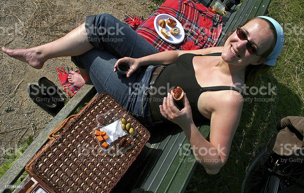 Woman on a Picnic royalty-free stock photo