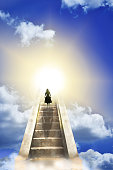 Woman On A Stairway To Heaven