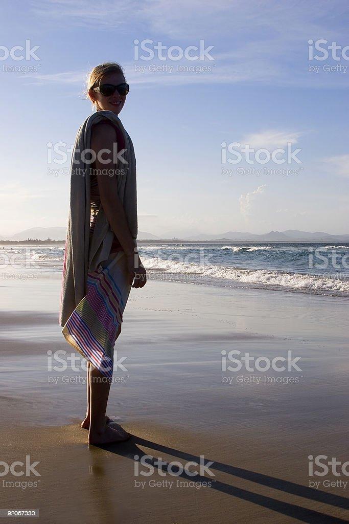 woman on beach 2 royalty-free stock photo