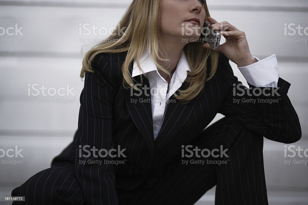 Woman on cell phone 05 stock photo