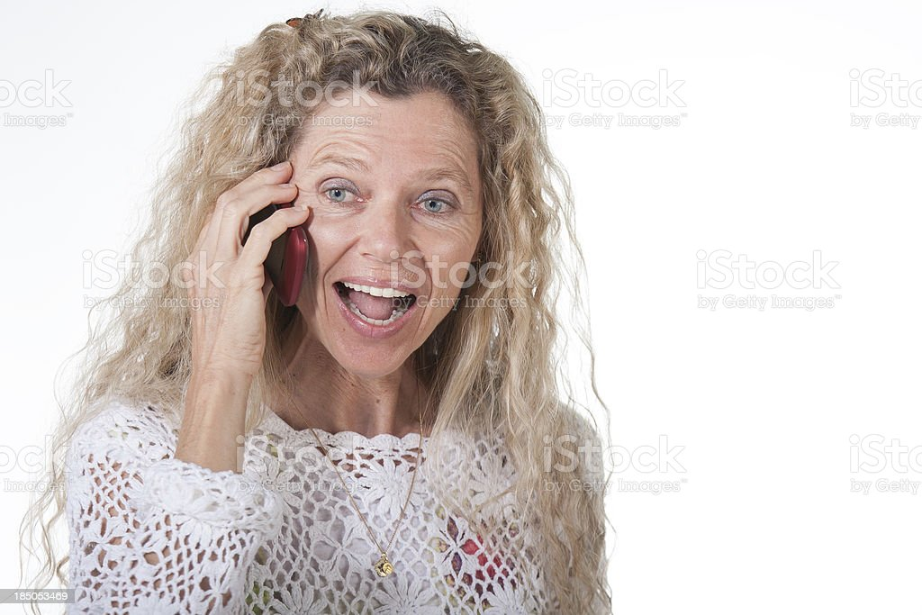 Woman on cell phone royalty-free stock photo