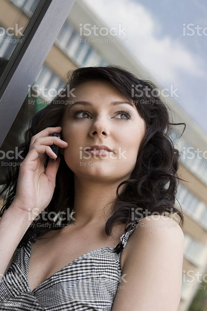 Woman on cellphone royalty-free stock photo