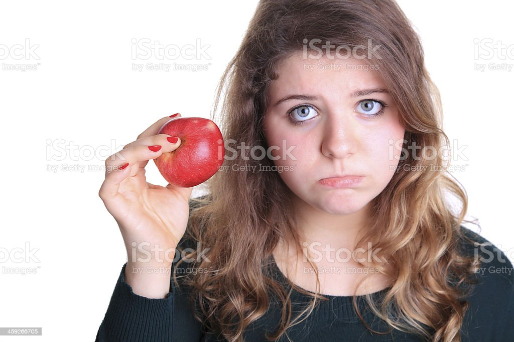 Woman on diet stock photo