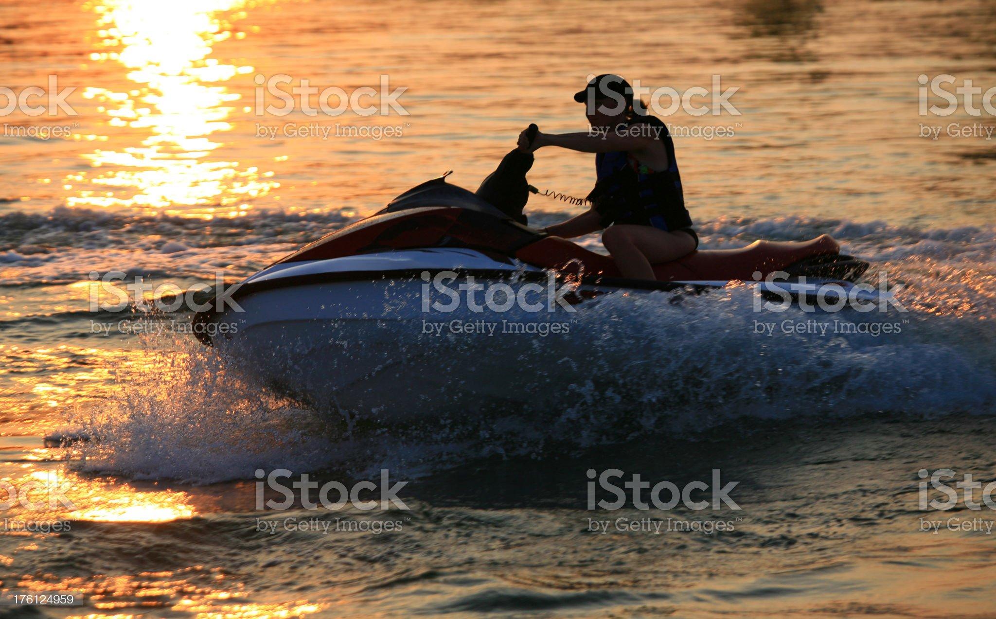 Woman on Jet Ski royalty-free stock photo