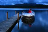 woman on Lake Windermere