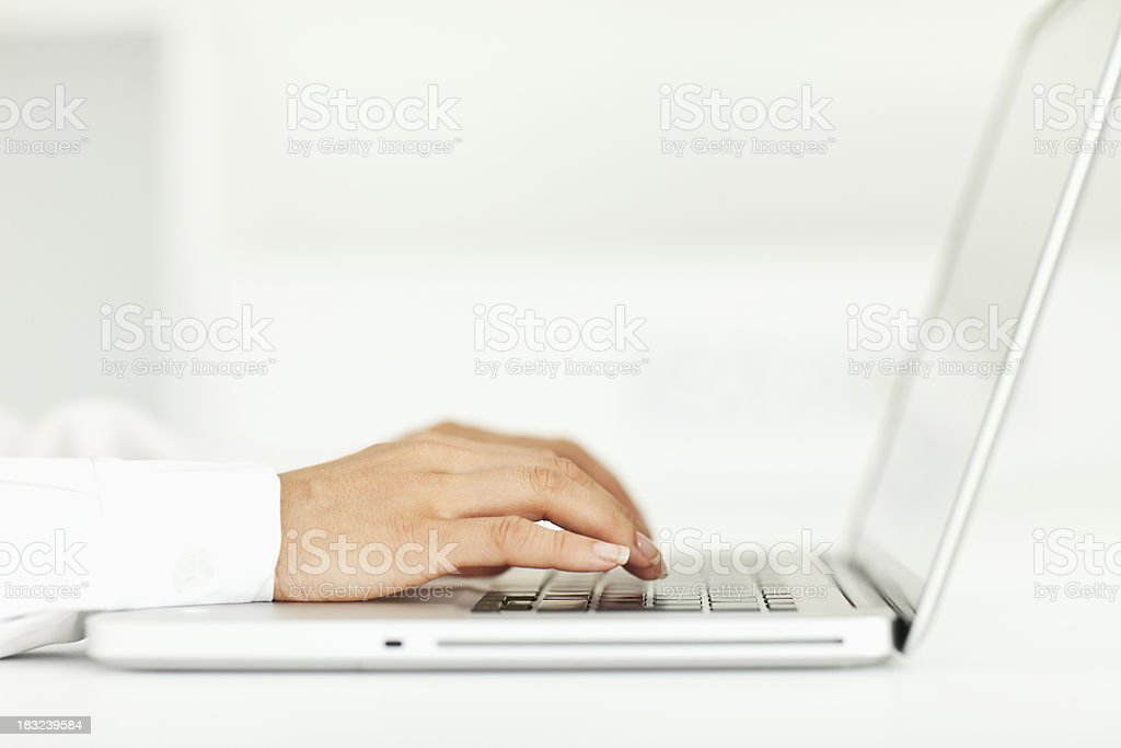 Woman on Laptop royalty-free stock photo