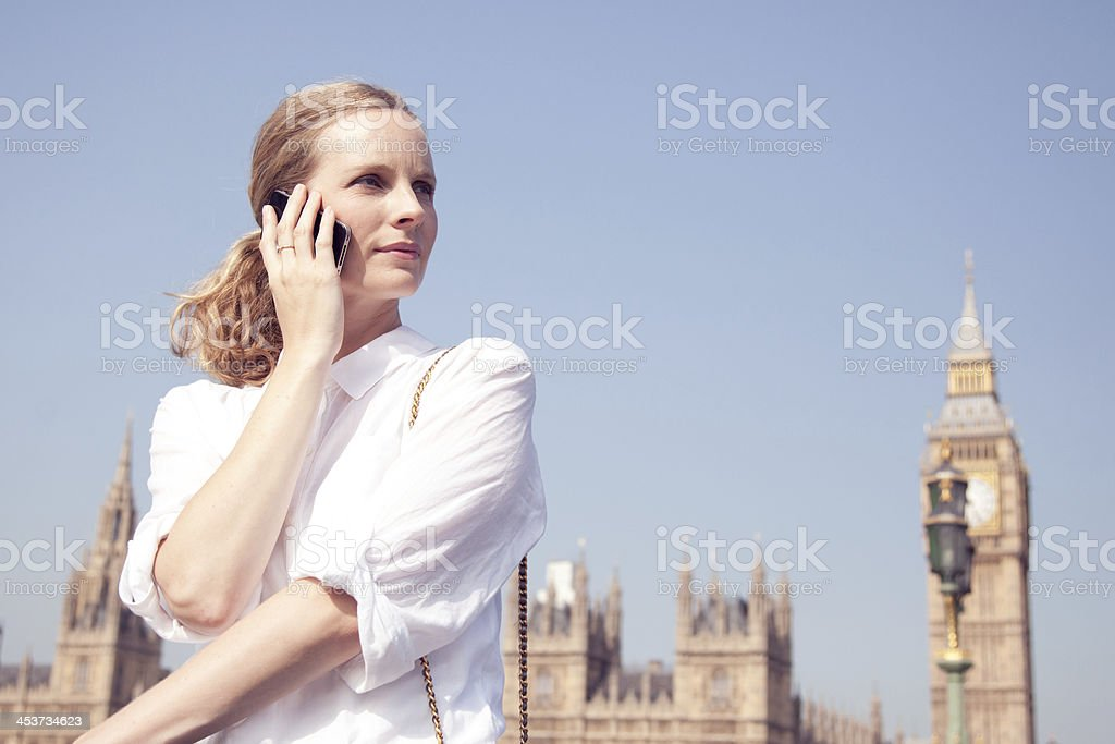 woman on mobile phone royalty-free stock photo