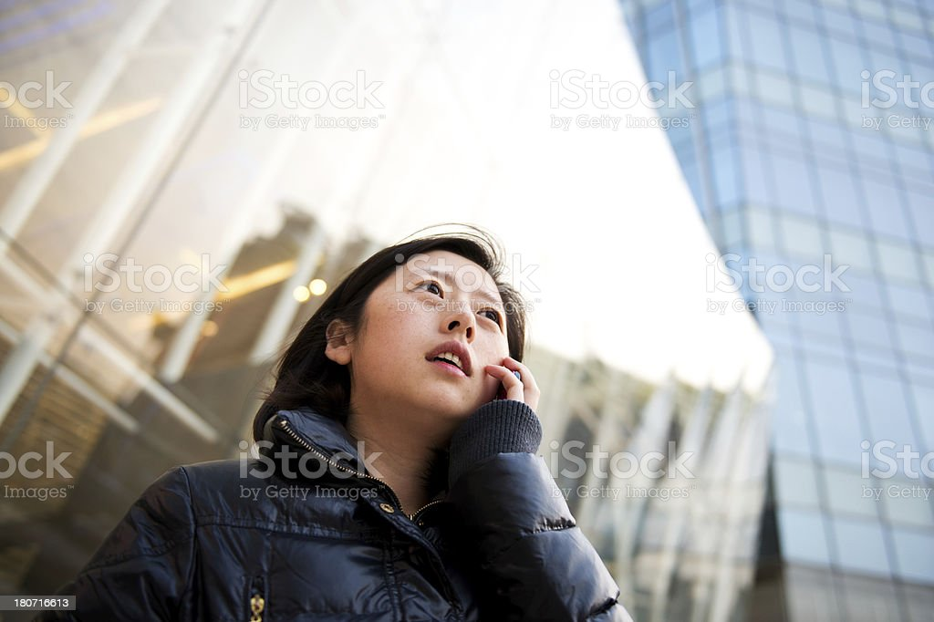 woman on phone royalty-free stock photo