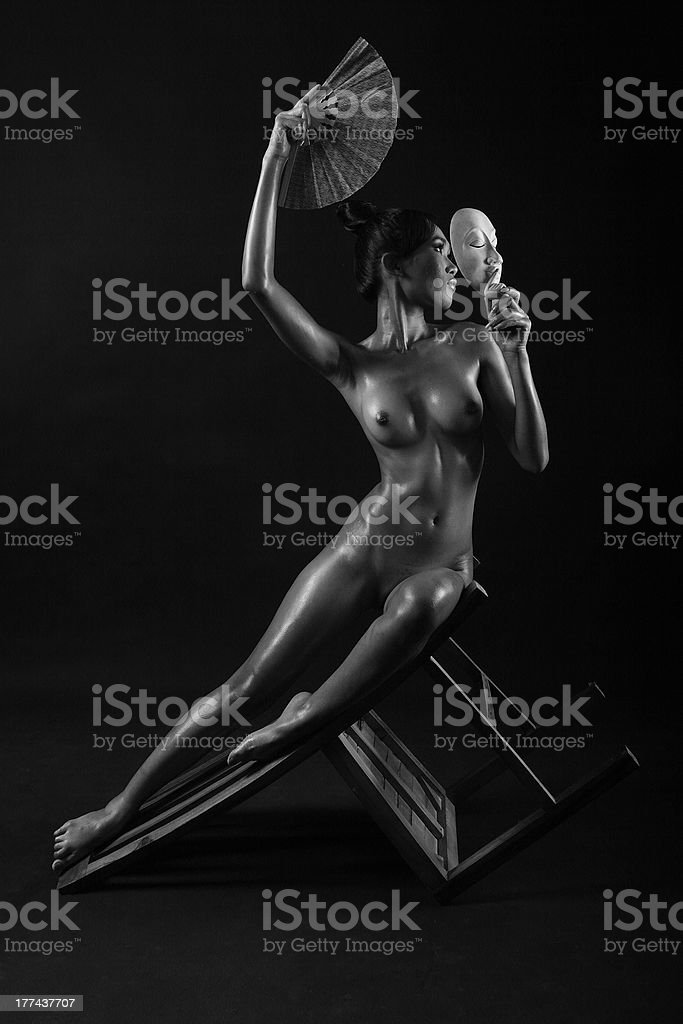 Woman on pose royalty-free stock photo