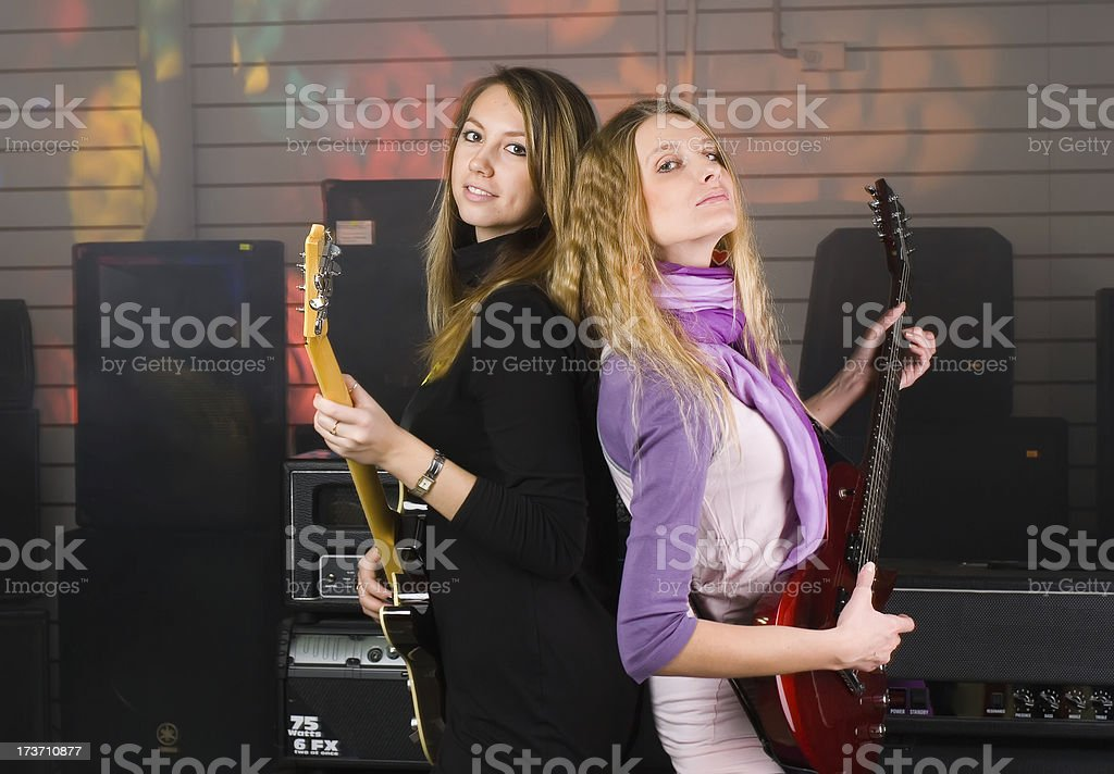 Woman on rock concert royalty-free stock photo