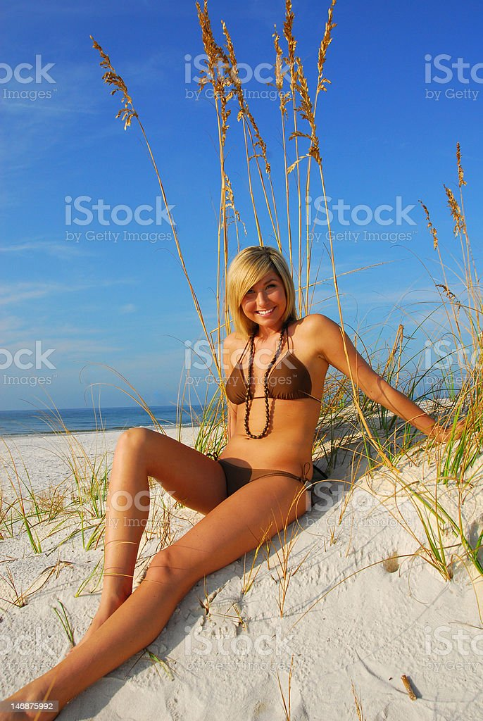 Woman on sand dune royalty-free stock photo