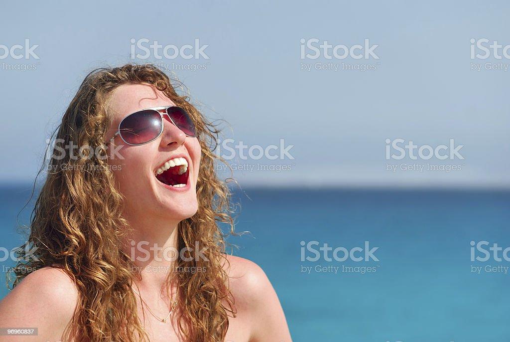 woman on sea royalty-free stock photo