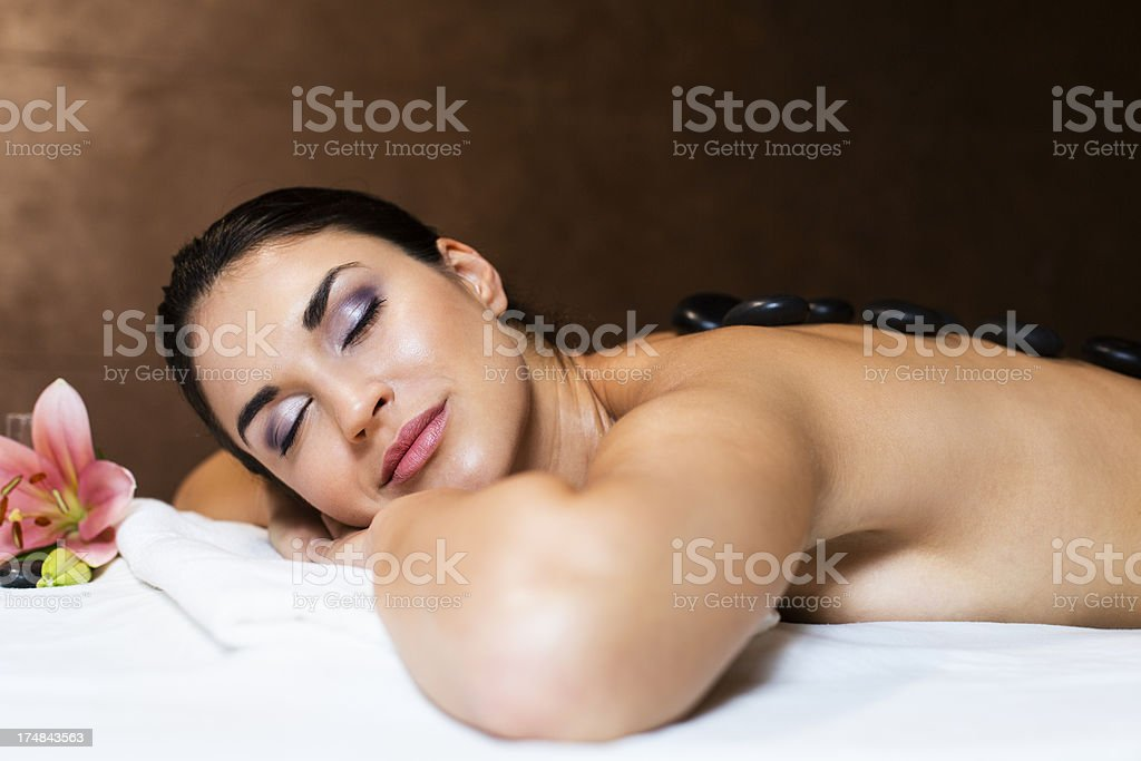 Woman on spa treatment royalty-free stock photo