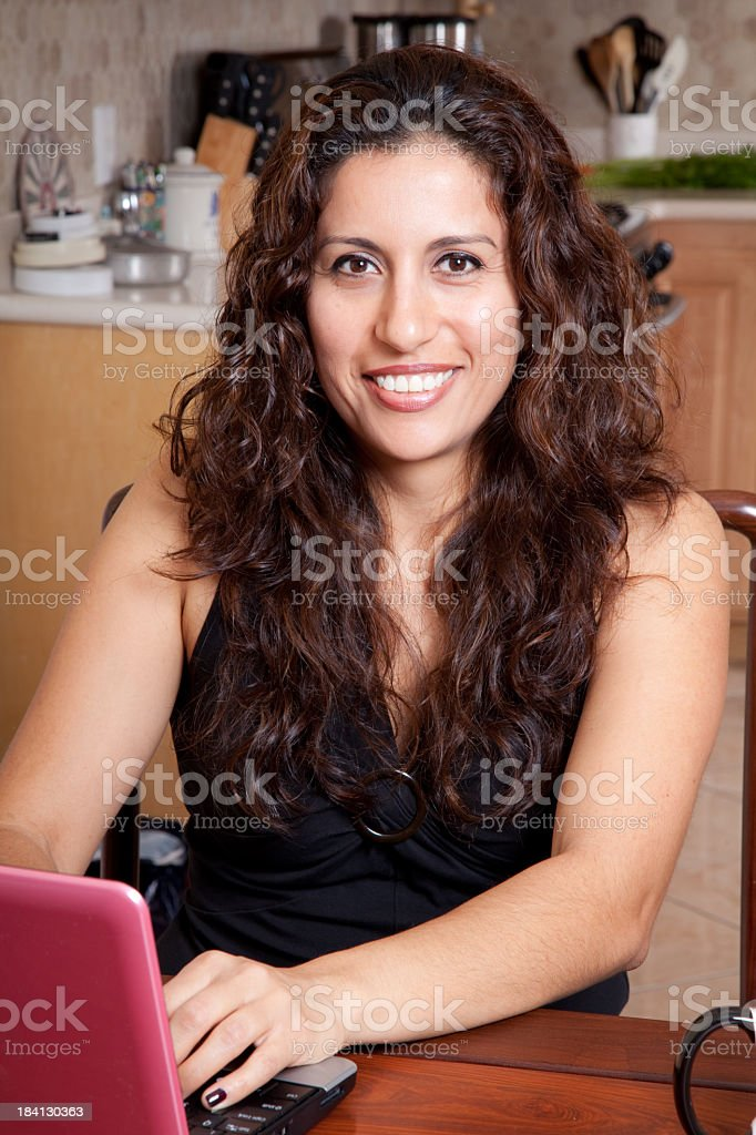 woman on the computer royalty-free stock photo