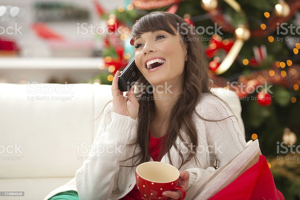 Woman on the phone. royalty-free stock photo