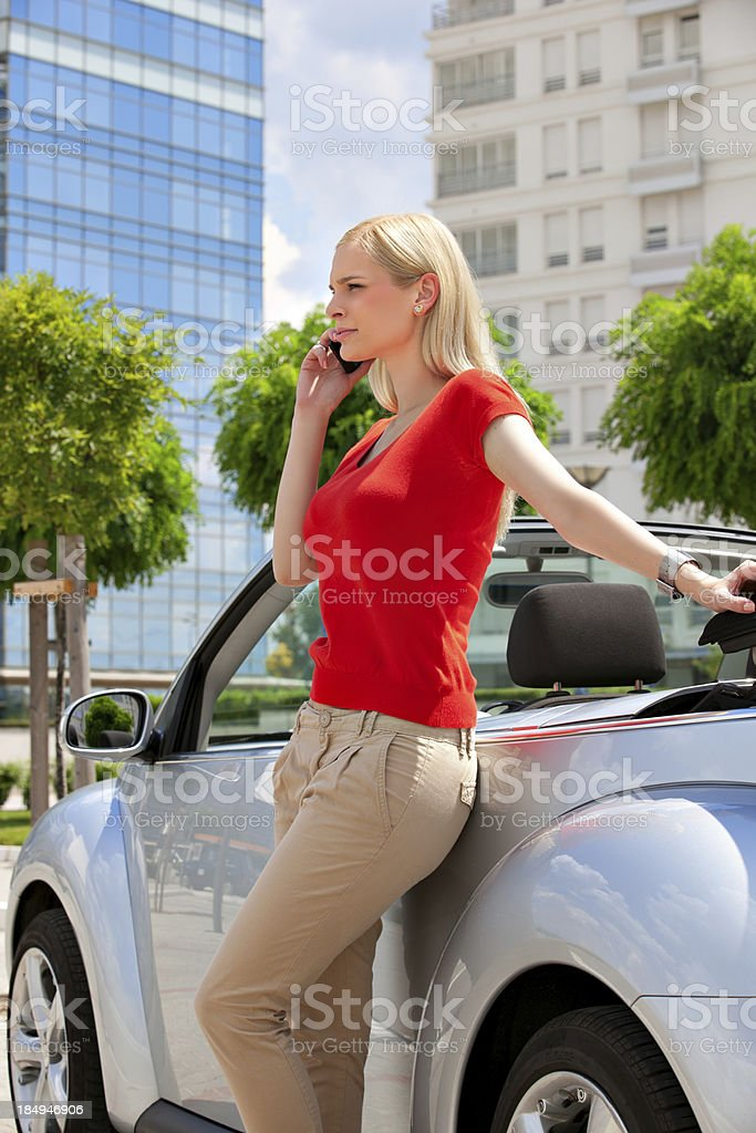 Woman on the phone royalty-free stock photo