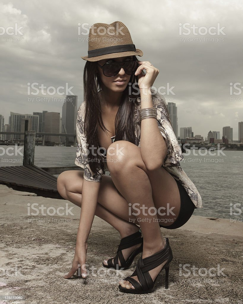 Woman on the prowl royalty-free stock photo