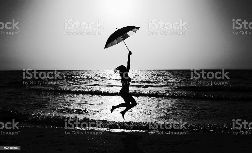 woman on the seaside royalty-free stock photo