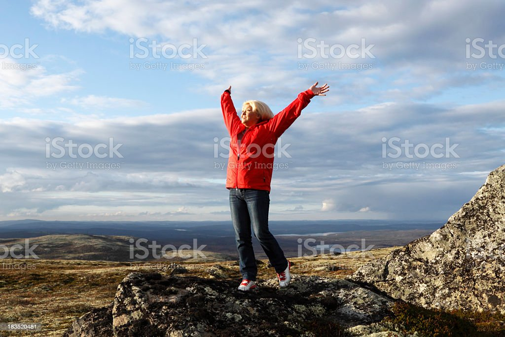 Woman on top. royalty-free stock photo