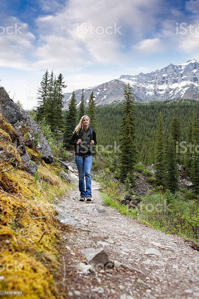 Woman on Trail royalty-free stock photo