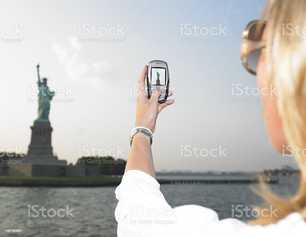 Woman on Vacation in NYC royalty-free stock photo