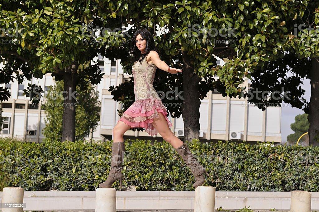 Woman On Walk stock photo
