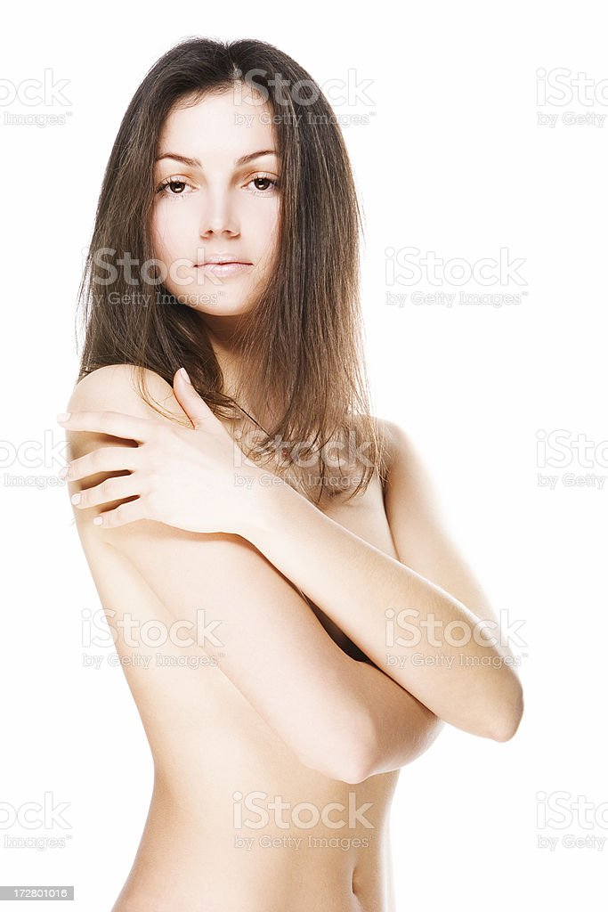 woman on white background royalty-free stock photo