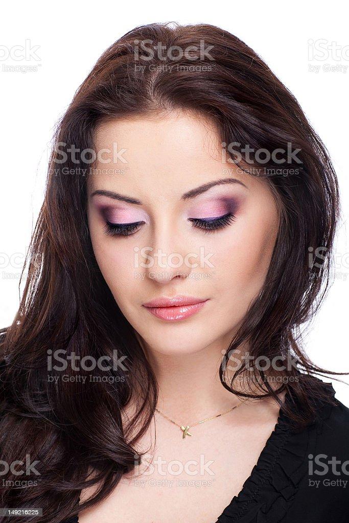 Femme sur blanc photo libre de droits