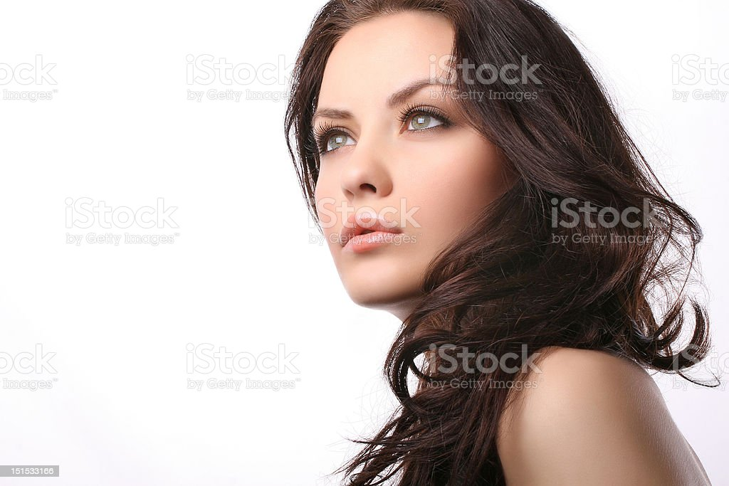 woman on white royalty-free stock photo