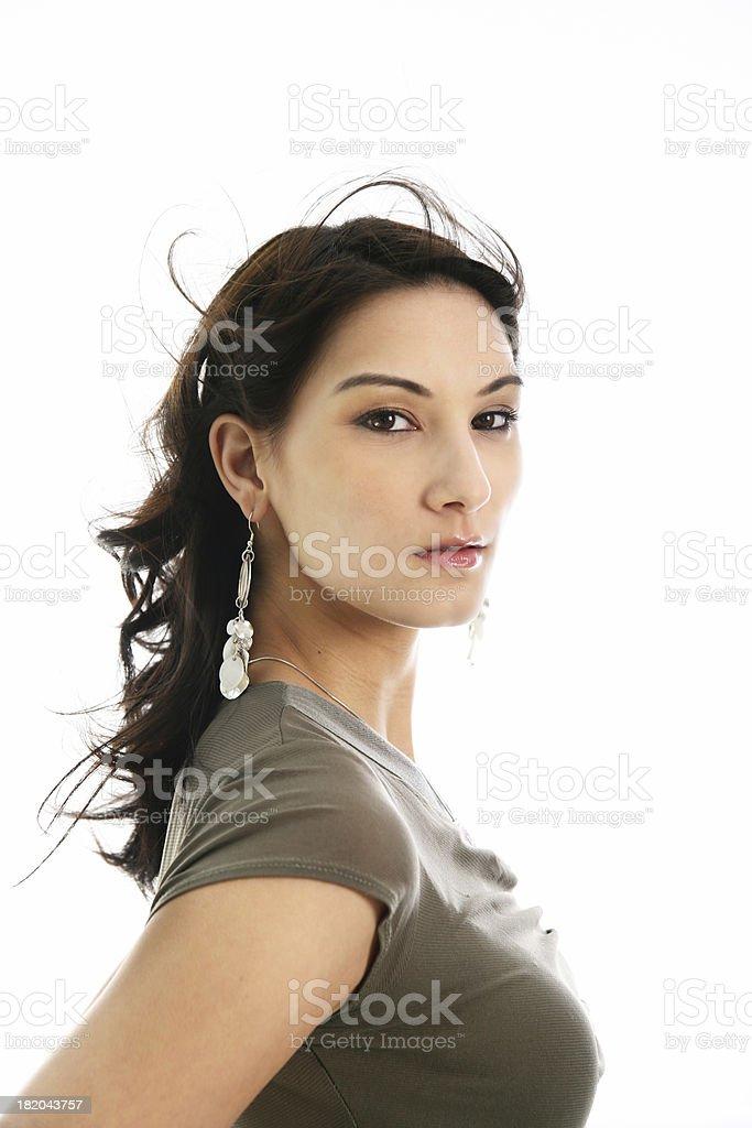 Woman on white royalty-free stock photo