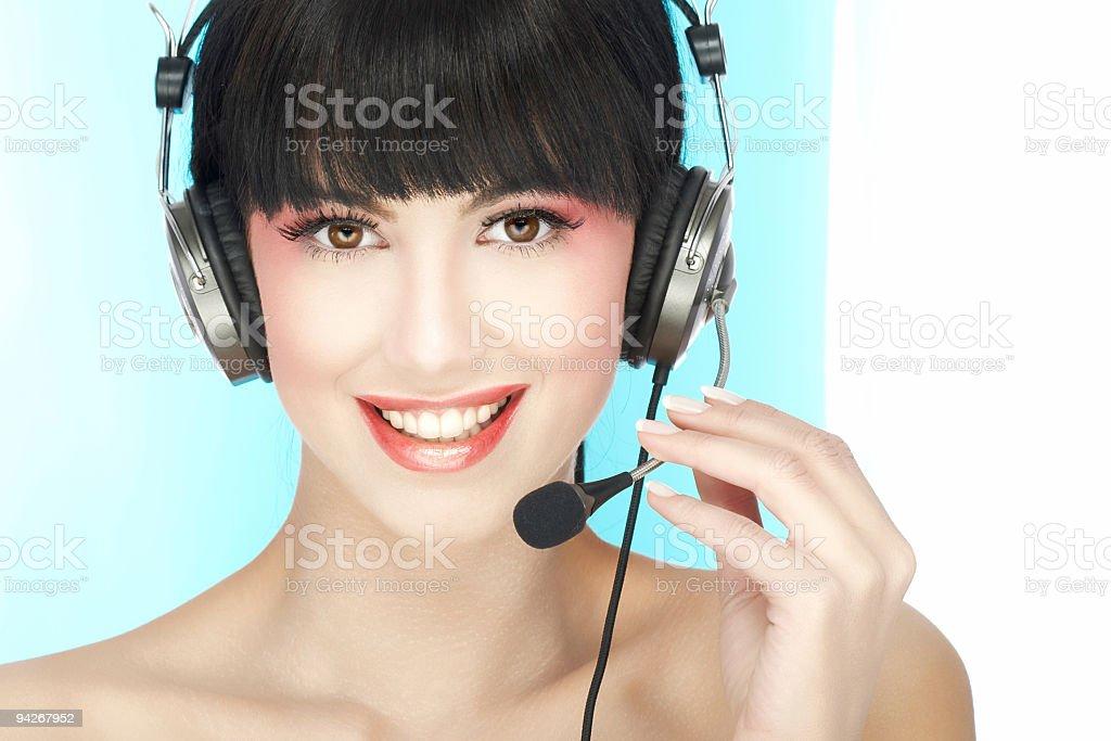 Woman operator royalty-free stock photo