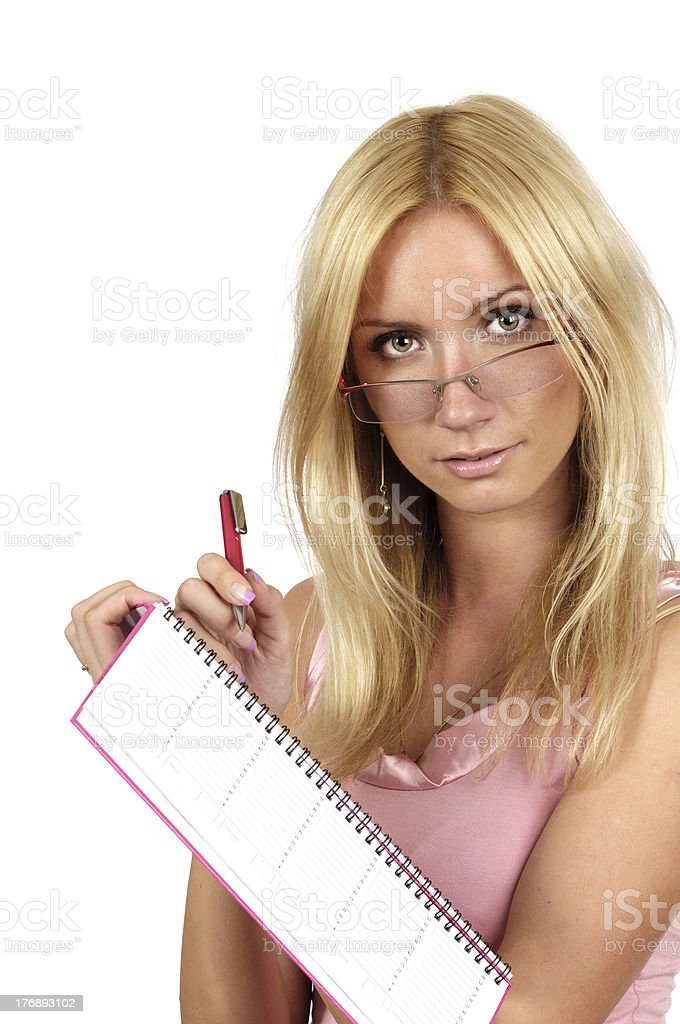 woman organizer in hand royalty-free stock photo